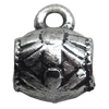 Antique Silver Plastic Pendant, 11x13mm, Hole:Approx 2.5mm, Sold by Bag