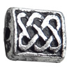 Antique Silver Plastic Beads, 7x6mm, Hole:Approx 2mm, Sold by Bag