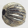 Antique Silver Plastic Beads, 6mm, Hole:Approx 1mm, Sold by Bag