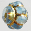 Transparent Plated Colorful(Silver) Plastic Beads, A Grade, Fat Bottle, 8x10mm, Hole:Approx 2mm, Sold by Bag