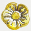 Transparent Plated Colorful(Silver) Plastic Beads, A Grade, Flower, 8x5mm, Hole:Approx 2mm, Sold by Bag