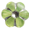 Transparent Plated Colorful(Silver) Plastic Beads, A Grade, 10x5mm, Hole:Approx 2mm, Sold by Bag
