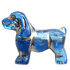 Transparent Plated Colorful(Silver) Plastic Beads, A Grade, Dog, 23x19mm, Hole:Approx 2mm, Sold by Bag