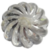 Transparent Plated Colorful(Silver) Plastic Beads, A Grade, 17x13mm, Hole:Approx 2mm, Sold by Bag