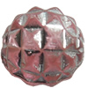 Transparent Plated Colorful(Silver) Plastic Beads, A Grade, 7x8mm, Hole:Approx 2mm, Sold by Bag