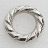 Jewelry findings, CCB Plastic Donut, Platina Plated, Outside Diameter:24mm Inner Diameter:13.5mm, Sold by Bag