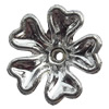 Electroplate Plastic Beads, Flower, 5.5x10.5mm, Hole:Approx 1.5mm, Sold by Bag