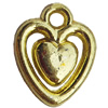 Electroplate Plastic Pendant, Heart, 12x15mm, Hole:Approx 1.5mm, Sold by Bag