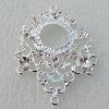 Zinc Alloy Jewelry Connectors, Nickel-free & Lead-free, 50x37mm,interior diameter:18x13mm, Hole:1.5mm, Sold by Bag