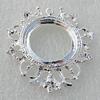 Zinc Alloy Jewelry Pendants, Nickel-free & Lead-free, 40x36mm,interior diameter:22mm Hole:2mm, Sold by Bag