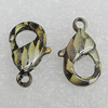 Copper Lobster Claw Clasp, 15x9mm Hole:2mm, Sold by Bag