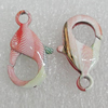 Copper Lobster Claw Clasp, 19x11mm Hole:2.5mm, Sold by Bag