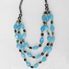 Nonmagnetic Hematite Necklace, Length Approx:17.7-inch, Sold by Strand