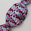 Woven Beads, Twist Flat Oval 46x31mm Hole:2mm, Sold by PC