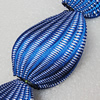Woven Beads, Twist Flat Oval 46x32mm Hole:2mm, Sold by PC