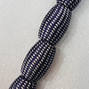 Woven Beads, Drum 33x21mm Hole:7.5mm, Sold by PC