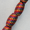 Woven Beads, Drum 32x21mm Hole:9mm, Sold by PC