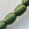 Woven Beads, Drum 22x17mm Hole:6mm, Sold by Bag