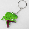 Key Chain, Iron Ring with Wood Charm, Charm width:48mm, Length Approx: 11cm, Sold by PC