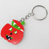 Key Chain, Iron Ring with Wood Charm, Charm width:40mm, Length Approx: 10cm, Sold by PC