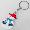 Key Chain, Iron Ring with Wood Charm, Charm width:31mm, Length Approx: 10.5cm, Sold by PC