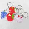 Key Chain, Iron Ring with Wood Charm, Mix Style, Charm width:35-45mm, Length Approx: 10cm, Sold by PC