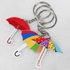 Key Chain, Iron Ring with Wood Charm, Mix Color, Charm width:47mm, Length Approx: 11cm, Sold by PC
