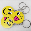 Key Chain, Iron Ring with Wood Charm, Mix Style, Charm width:45mm, Length Approx: 10cm, Sold by PC