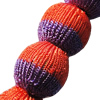 Woven Beads, Round 22mm Hole:3mm, Sold by PC