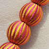 Woven Beads, Round 20mm Hole:2.5mm, Sold by Bag