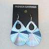 Aluminium Earrings, Teardrop 50x33mm, Sold by Group