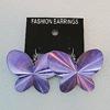 Aluminium Earrings, Butterfly 46x35mm, Sold by Group