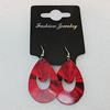 Aluminium Earrings, Teardrop 40x27mm, Sold by Group