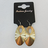 Aluminium Earrings, Flat Oval 46x24mm, Sold by Group