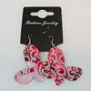 Aluminium Earrings, Butterfly 45x36mm, Sold by Group
