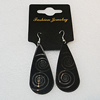 Aluminium Earrings, 56x24mm, Sold by Group