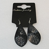 Aluminium Earrings, Leaf 47x25mm, Sold by Group