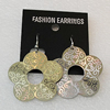Aluminium Earrings, Flower 38mm, Sold by Group
