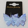 Aluminium Earrings, Butterfly 42x36mm, Sold by Group