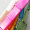 Mix Colour Shell Beads, Rectangle, 10x15mm, Hole:Approx 1mm, Sold per 16-inch Strand