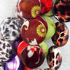 Mix Colour Shell Beads, Flat Round, 20mm, Hole:Approx 1mm, Sold per 16-inch Strand