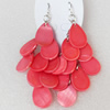 Shell Earring, Length:Approx 73mm, Sold by Pair