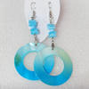 Shell Earring, Length:Approx 75mm, Sold by Pair