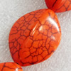 Turquoise Beads, 22x28mm, Hole:Approx 1mm, Sold by KG