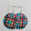 Iron Earrings, Flat Round 60mm, Sold by Group