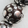 Handmade Indonesia Beads, Round 33mm Hole:3.5mm, Sold by PC