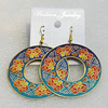 Copper Earrings, Donut 48mm, Sold by Group