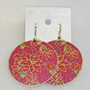 Copper Earrings, Flat Round 50mm, Sold by Group