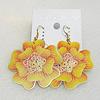 Copper Earrings, Flower 47mm, Sold by Group