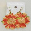 Copper Earrings, Flower 45mm, Sold by Group